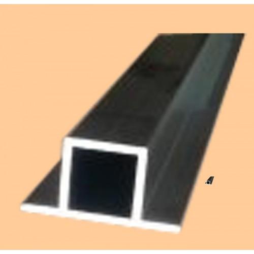 hliníkový profil s výstupkom na oboch stranách 20x20/1,5
