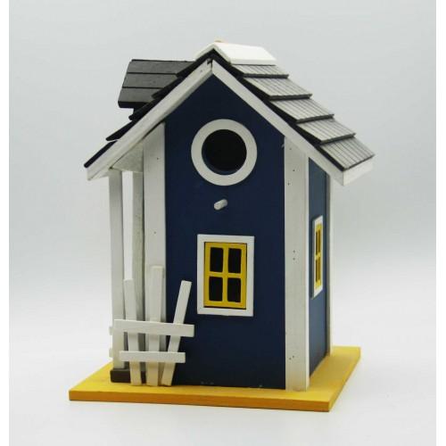 drevený domček modrý