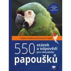 550 otázek a odpovědí pro chovatele papouškú